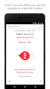 what3words – Vignette de la capture d'écran