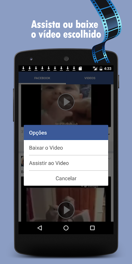 Baixar Videos do Facebook: captura de tela