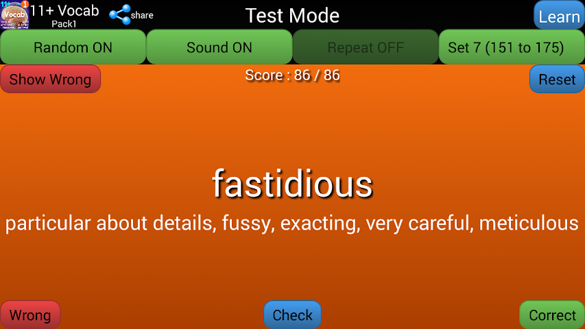 android 11+ English Vocabulary Pack1 Screenshot 3