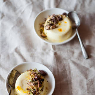 Saffron Cheesecake Pannacotta.