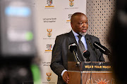 Mineral resources and energy minister Gwede Mantashe briefing members of the media on the latest developments in the energy sector on Thursday. File photo.