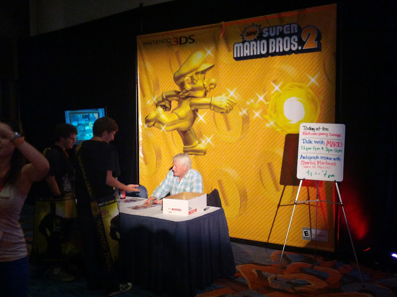 Photo: Charles Martinet, the voice of Mario.