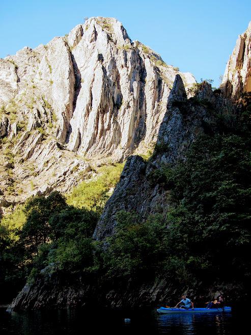 Kayaking Matka Canyon
