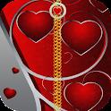 valentine zipper screen lock icon