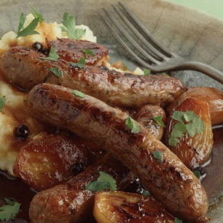 Lamb Sausages with Juniper Glaze