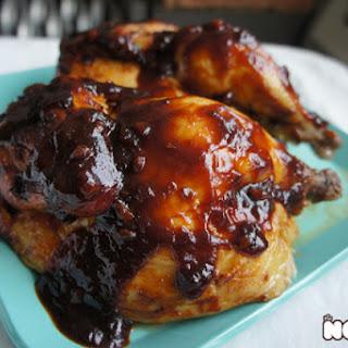 Roast Chicken with Spicy Honey BBQ Sauce.