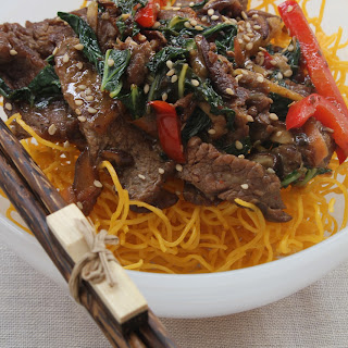Gingered Beef With Fried Noodles