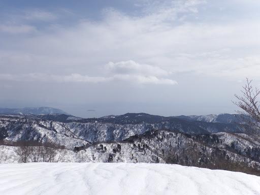 展望地から琵琶湖方面