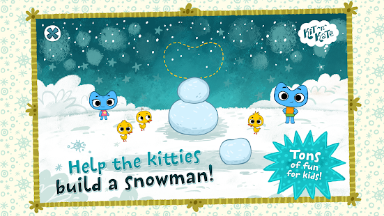 Kit^n^Kate Let's Build Snowman- screenshot thumbnail