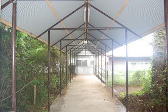 Photo: 本館と繋ぐ渡り廊下が出来ました。