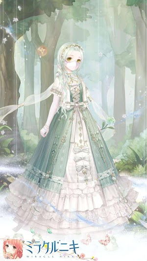 物語風緑色コーデ