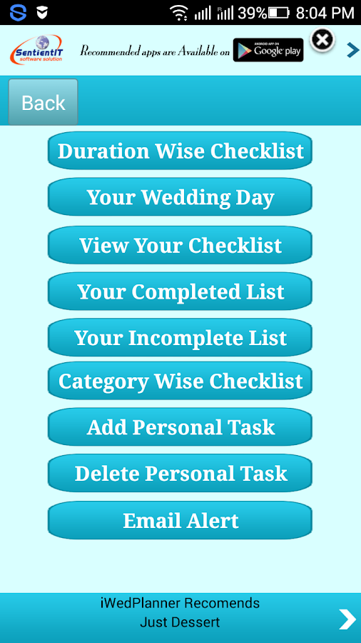 iwedplanner -wedding planning- screenshot