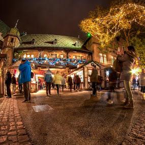 Noel à Colmar 2017 IV by Pierre Husson - City,  Street & Park  Street Scenes ( crhistmas market, street, night, france, colmar )