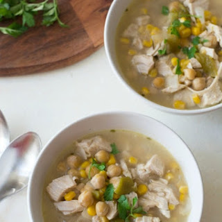 30 Minute Leftover Turkey and Hatch Chile White Chili Soup