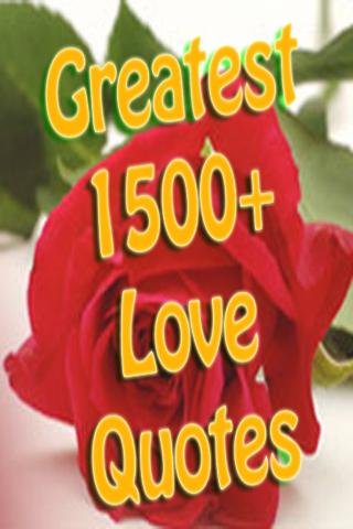 Greatest Love Quotes Ever