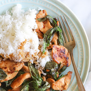 Thai Basil Chicken.