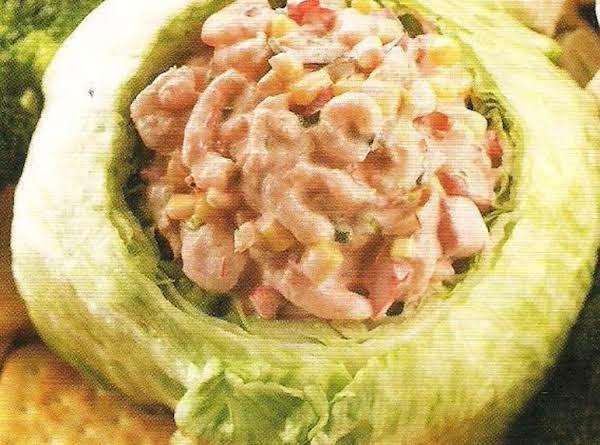 Southwest Shrimp Dip In Lettuce Bowl With Crudites