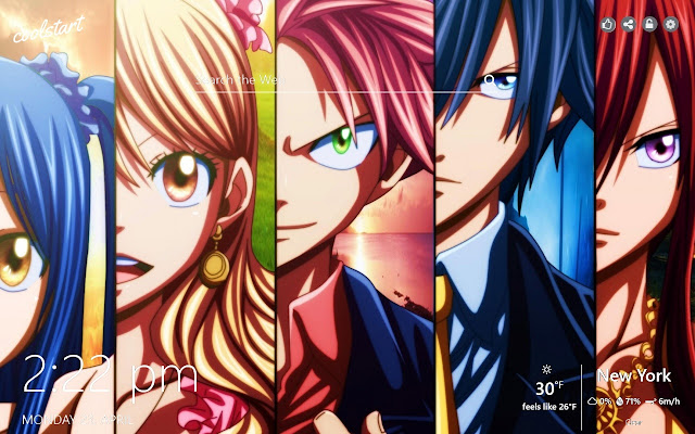 Fairy Tail HD Wallpapers Anime New Tab Theme