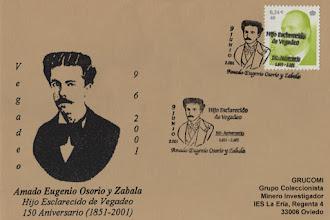 Photo: Matasellos homenaje a Amadeo Eugenio Osorio y Zabala en Vegadeo