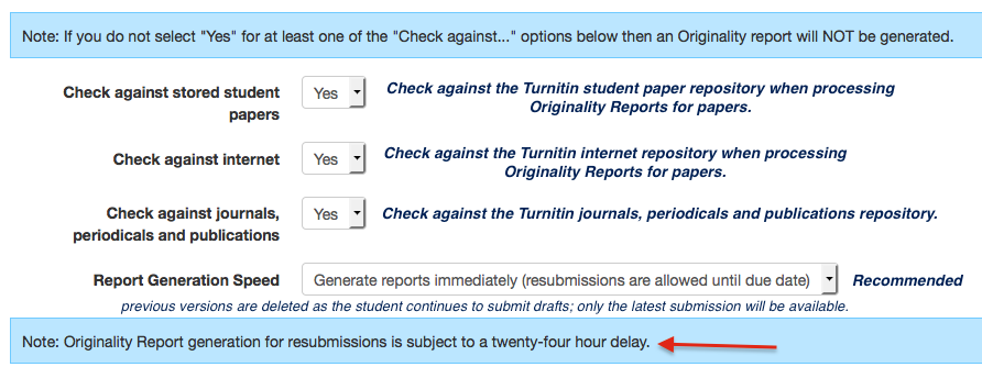 does turnitin check other students papers