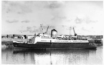 """Photo: """"Sarnia"""" at Weymouth (Photo: Schiffsfotos Jansen, Hamburg)"""