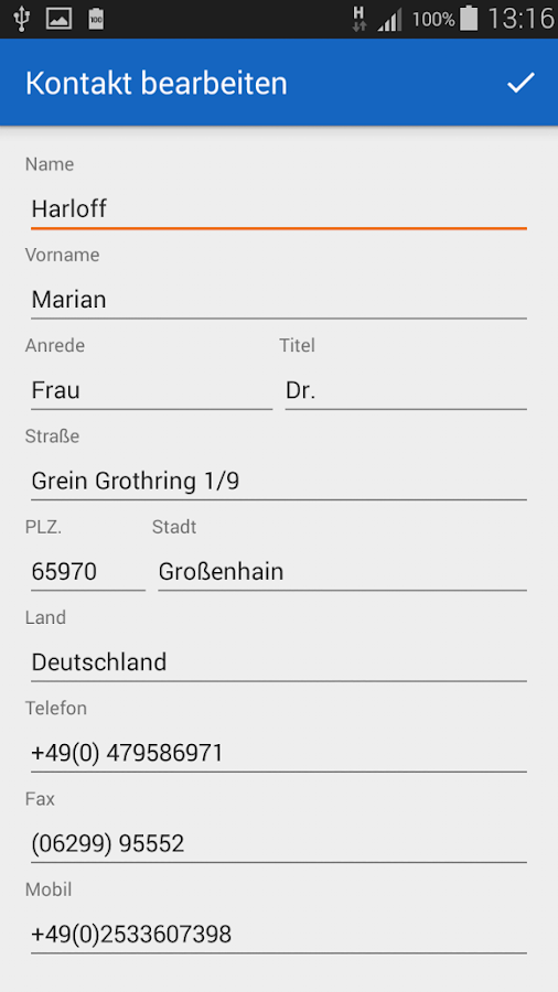 MD Adressbuch for Android™- screenshot