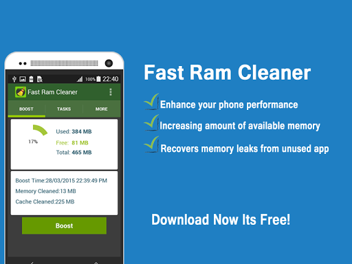 Fast Ram Cleaner Speed Booster
