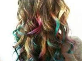 Chalking your hair is another way and can be washed out easily with soap...
