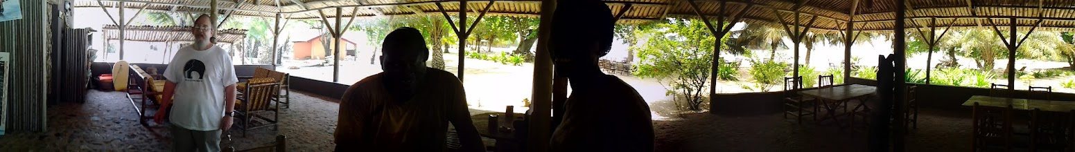 Photo: Ezile Bay village, in the restaurant (at Akwidaa, western region, Ghana)