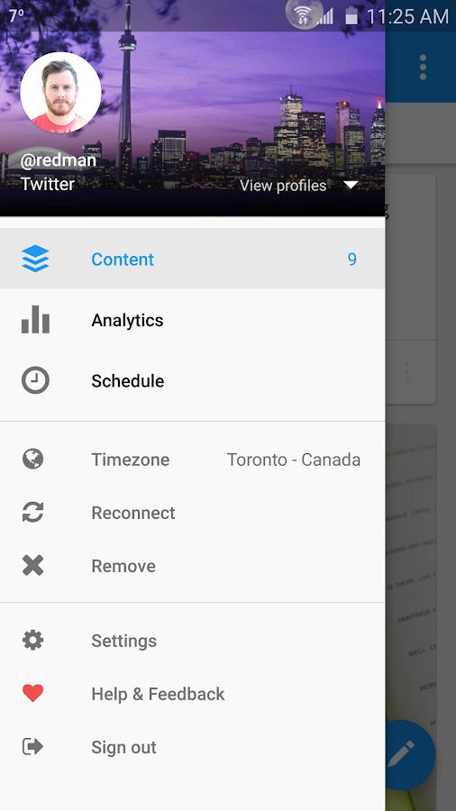 Buffer: Social Media, Twitter- screenshot