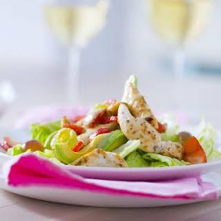 Chicken Tender Salad with Fruit.