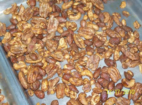 Sweet Spiced Nuts Recipe