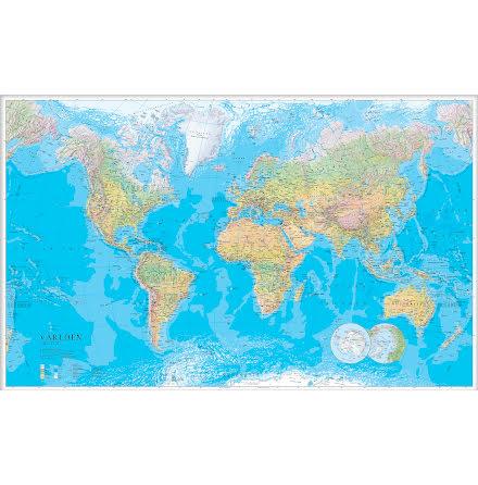 Världskarta 1:30milj  137x85cm