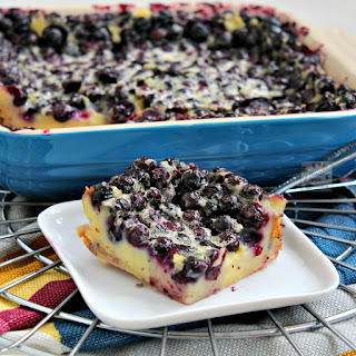Yummy Blueberry Clafoutis.
