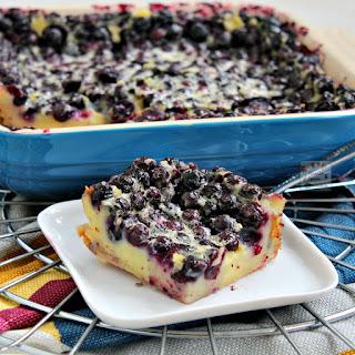 Yummy Blueberry Clafoutis.