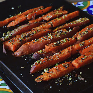Dukkah Roasted Sweet Potato Fries
