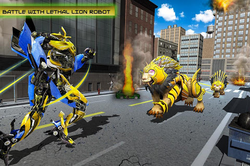 Transforming Robot Elephant Vs Ultimate Lion Robot Varies with device screenshots 8