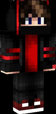 Se usa capucha negro y rojo en la casa