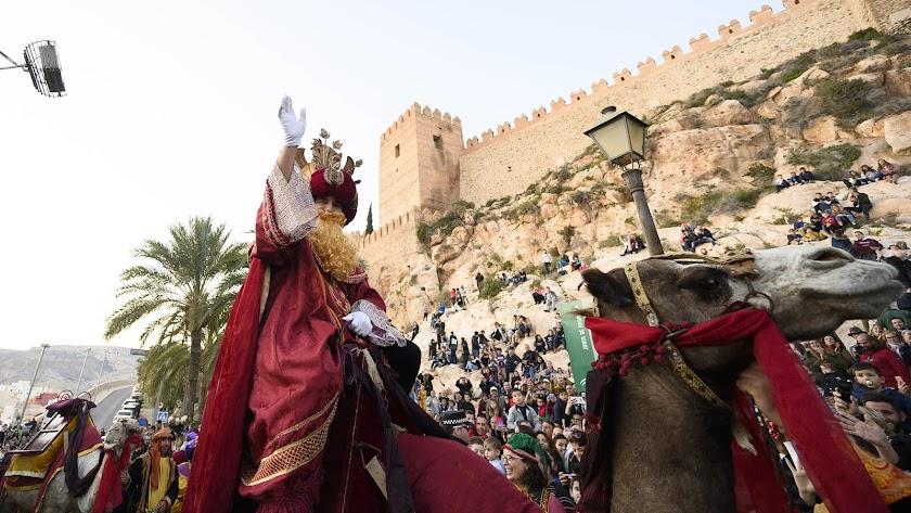 Los Reyes Magos, en su paso por Almería en enero de 2020.