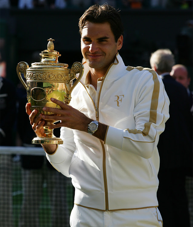 Rolex Testimonee Roger Federer, winner of the men's singles final at the 2009 edition of The Championships, Wimbledon