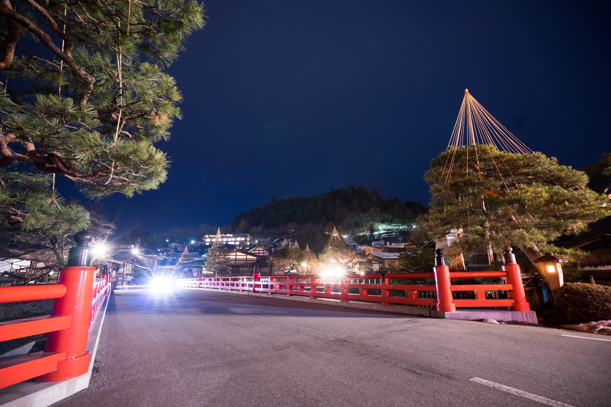 Hida Takayama Nakabashi bridge night