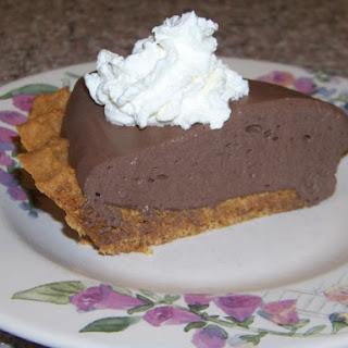Dark Chocolate Mousse Pie with Peanut Flour Crust