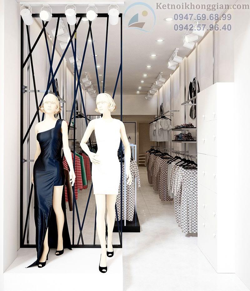 thiết kế shop thời trang nữ đẳng cấp và nữ tính