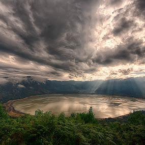 lake by Giovanni  Volpe  - Landscapes Cloud Formations ( crater, cloudscape, empakai, lake, tanzania, landscape, landscapes, #GARYFONGDRAMATICLIGHT, #WTFBOBDAVIS,  )