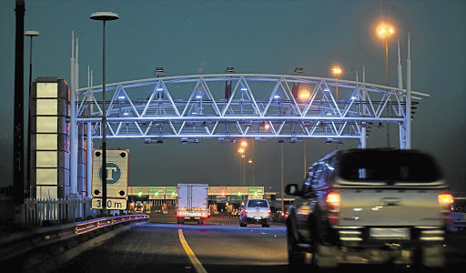 UNDER FIRE: One of the new toll gantries on the N17 near Germiston built by Tolplan Picture: SIMON MATHEBULA