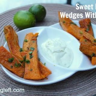 Sweet Potato Wedges With Lime Mayo