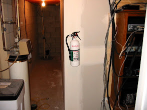 Photo: Fire extinguisher just in case... You never know.
