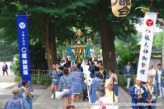 Photo: 【平成20年(2008) 本宮】  亀ヶ池八幡宮に到着。安全祈願を受ける。