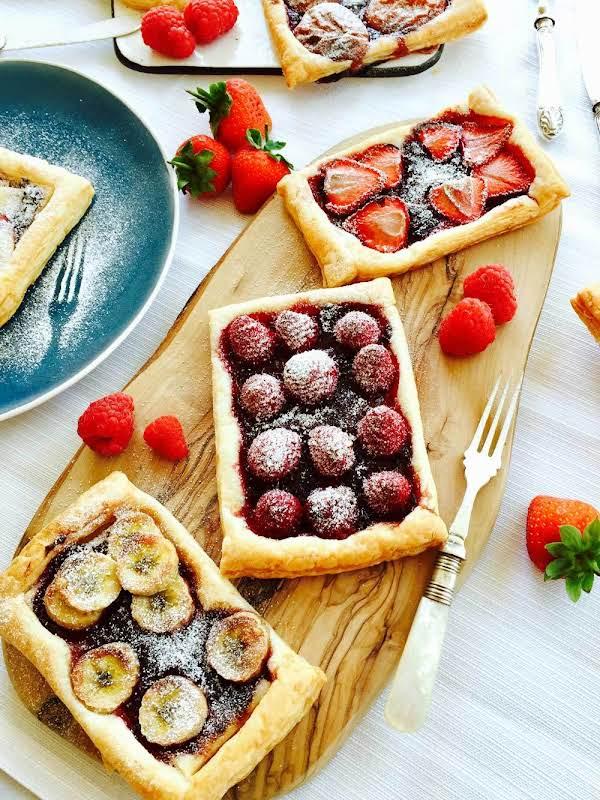 Homemade Tutti-fruity Jam And Fresh Fruit Tartlets Recipe