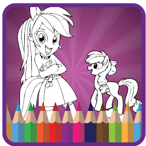 Coloring For Equestria Girls